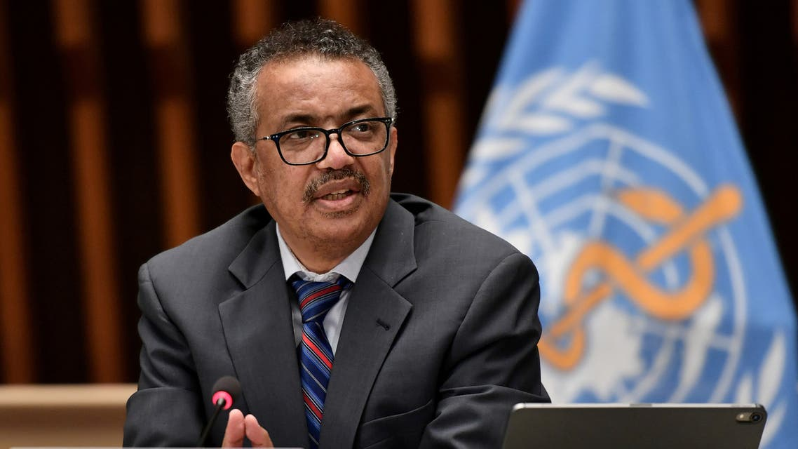 World Health Organization Director-General Tedros Adhanom Ghebreyesus attends a news conference in Geneva. (Reuters)
