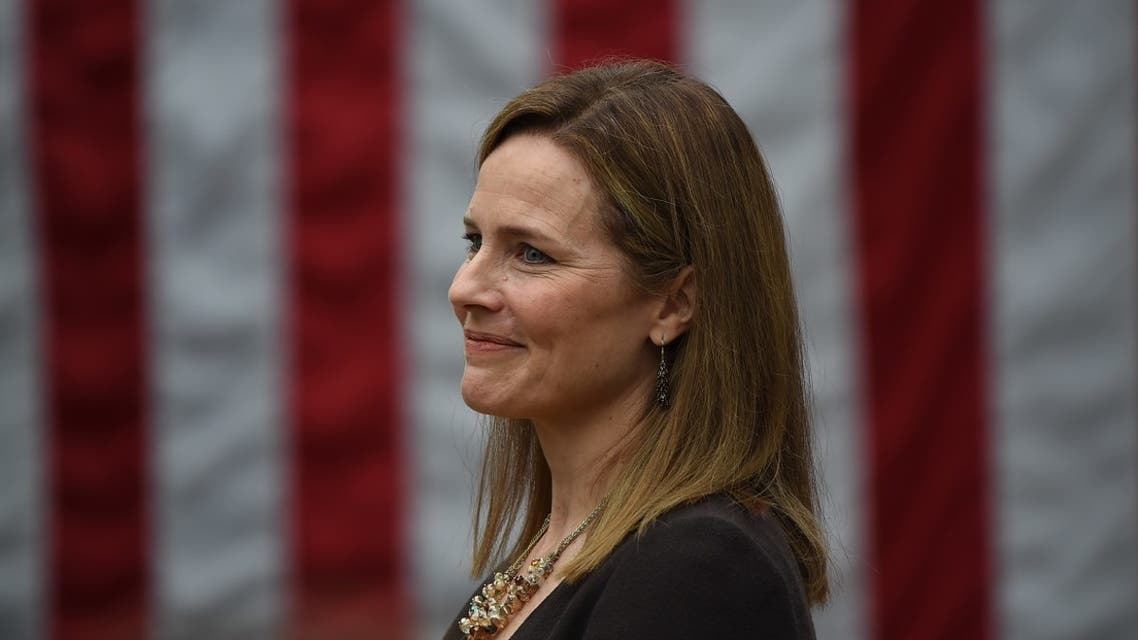 Judge Amy Coney Barrett is nominated to the US Supreme Court by President Donald Trump in the Rose Garden of the White House. (AFP)