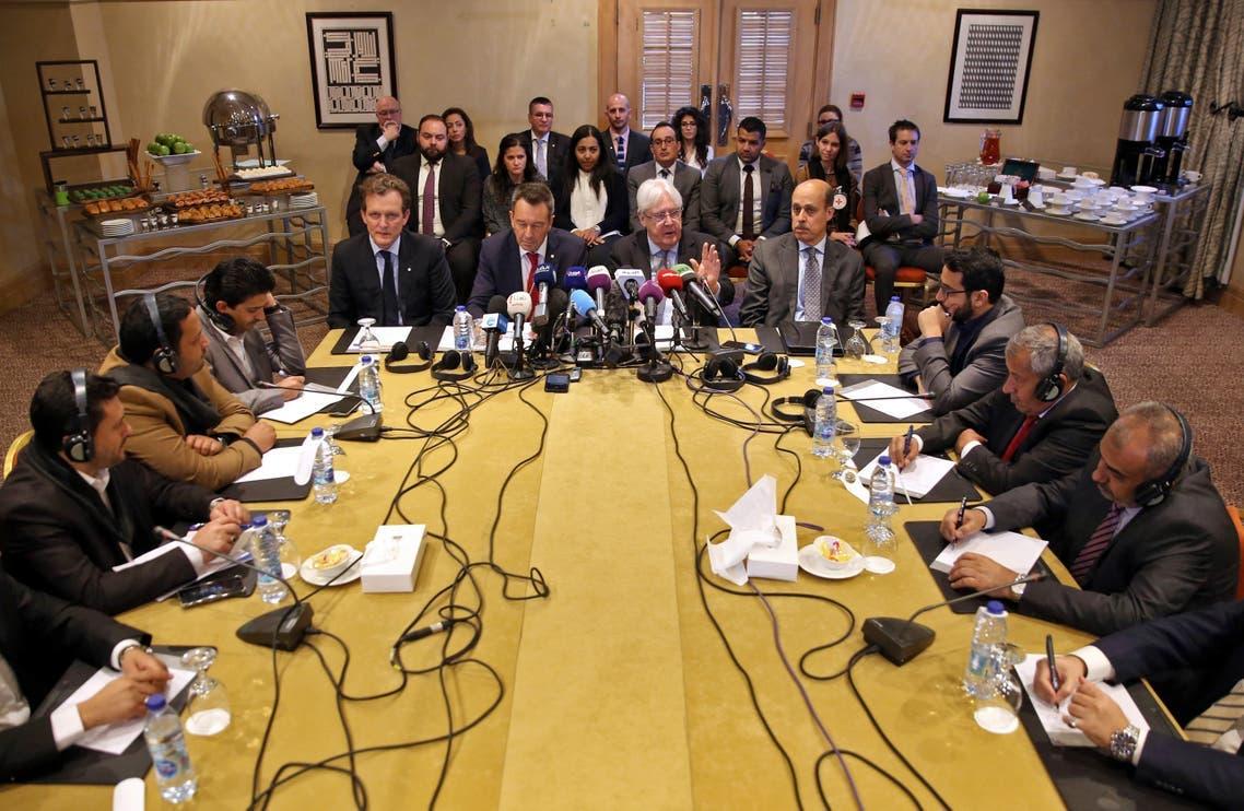 من محادثات بين الحكومة والحوثيين في جنيف (أرشيفية)