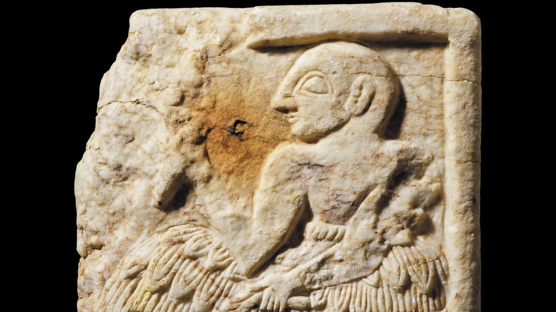 A handout picture released by the British Museum in London on September 28, 2020 shows a Sumerian plaque, dating to around 2400BC, and belonging to the Early Dynastic III period of southern Iraq, that was smuggled out of Iraq and then seized from an online auction site by the UK authorities. (File photo: AFP)
