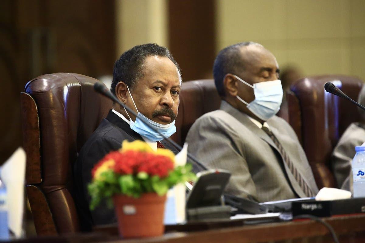 حمدوك مع رئيس مجلس السيادة عبد الفتاح البرهان