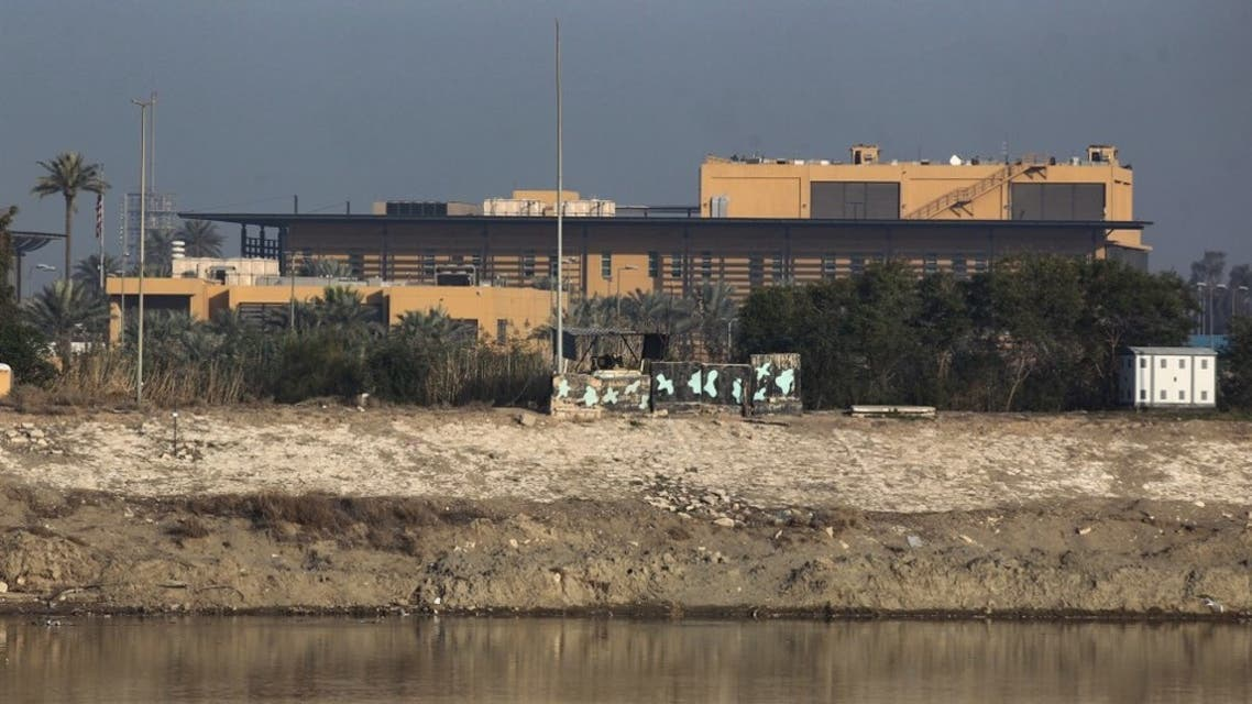 A general view shows the US embassy across the Tigris river in Iraq's capital Baghdad on January 3, 2020. (AFP)