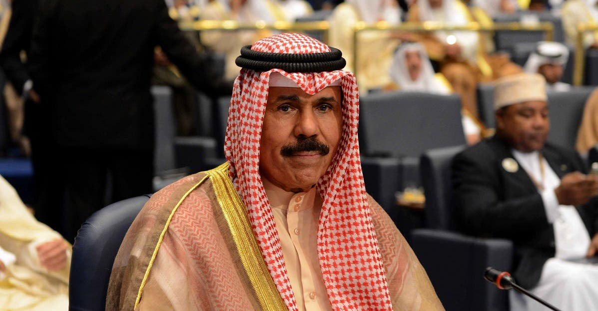 Kuwait's Crown Prince Sheik Nawaf Al-Ahmad Al-Jaber Al-Sabah attends the closing session of the 25th Arab Summit in Bayan Palace in Kuwait City. (File photo: AP)