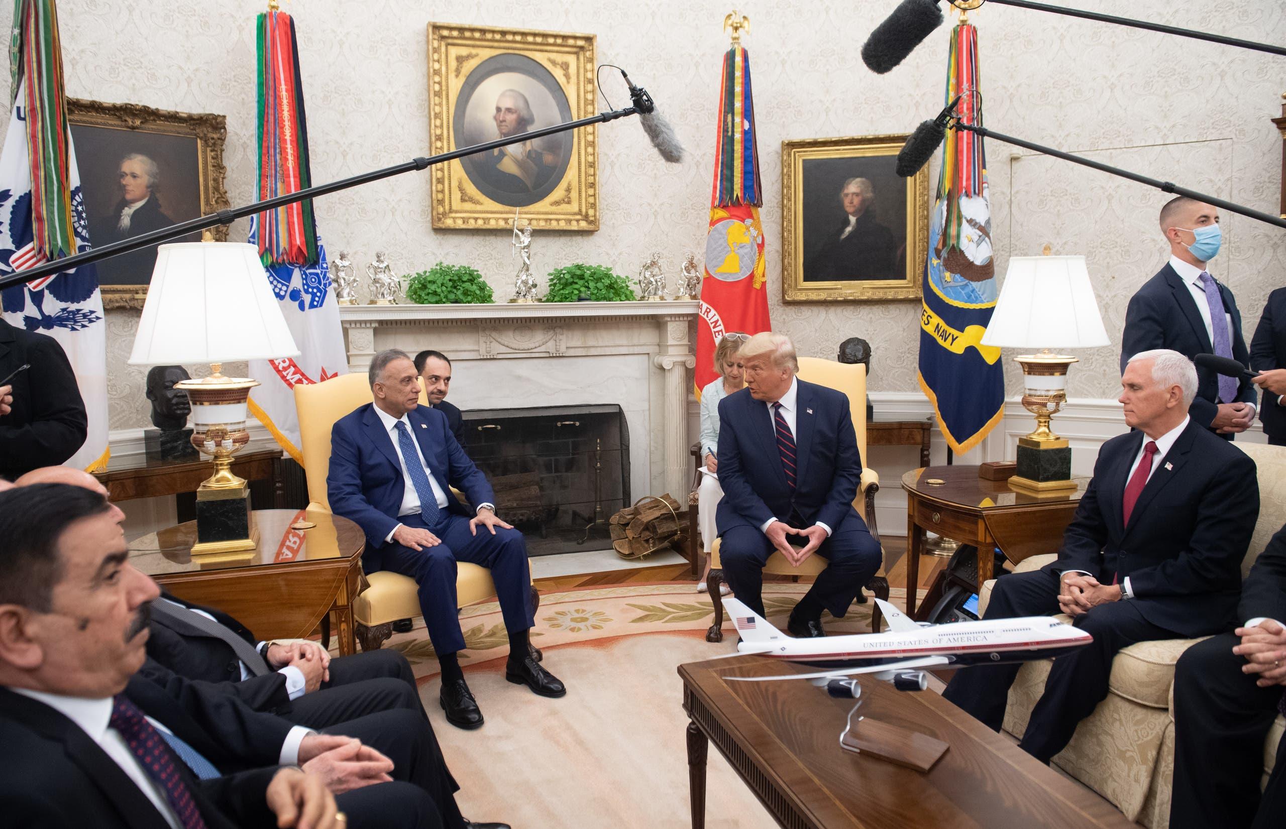 من لقاء ترمب والكاظمي في البيت الأبيض يوم 20 أغسطس