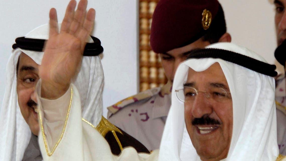 Kuwait's emir Sheikh Sabah al-Ahmad al-Sabah waves as he leaves parliament in Kuwait January 29,2006. (File photo: Reuters)