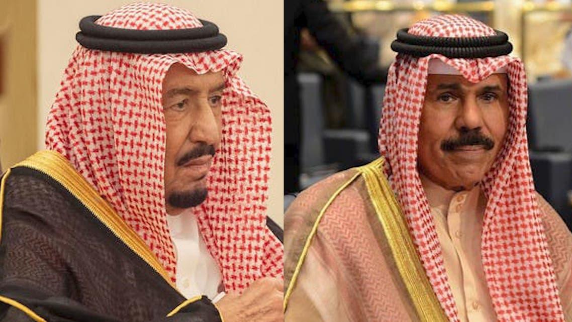 Saudi Arabia's King Salman and Kuwait's Emir Sheikh Nawaf