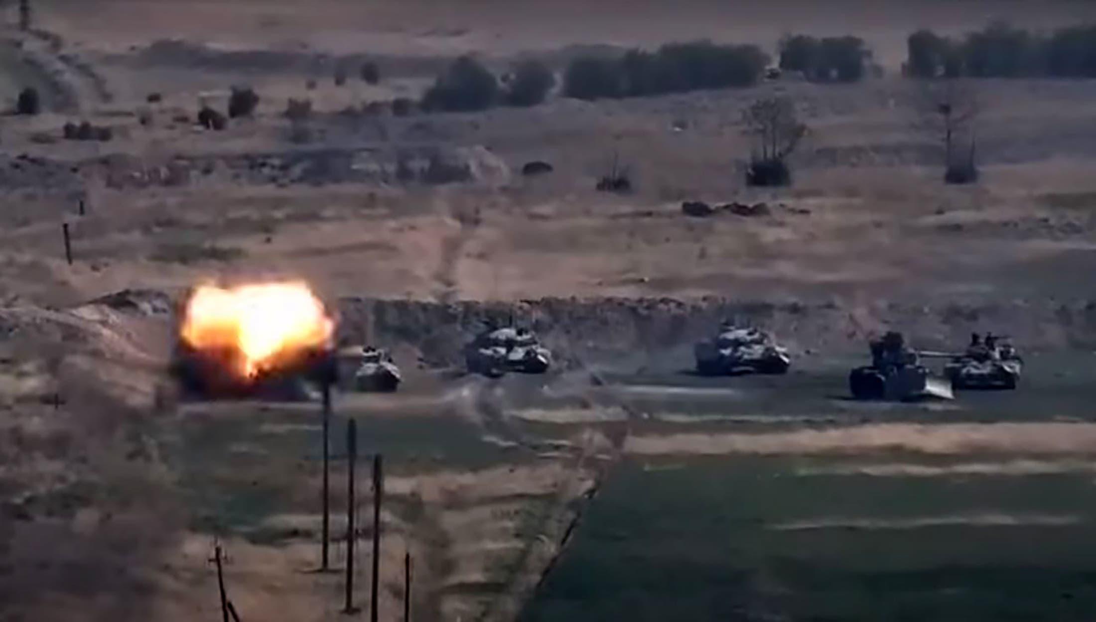 من الاشتباكات بين أرمينيا وأذربيجان يوم 27 سبتمبر