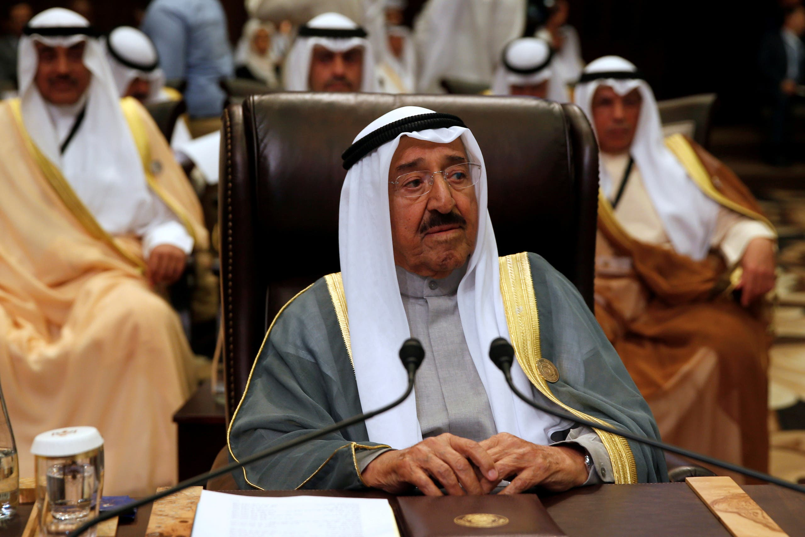 The late Emir of Kuwait Sabah al-Ahmad al-Jaber al-Sabah attends the 28th Ordinary Summit of the Arab League at the Dead Sea. (File photo: Reuters)