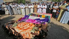 Iraqis decry insecurity at funerals of seven killed in anti-US attack in Baghdad