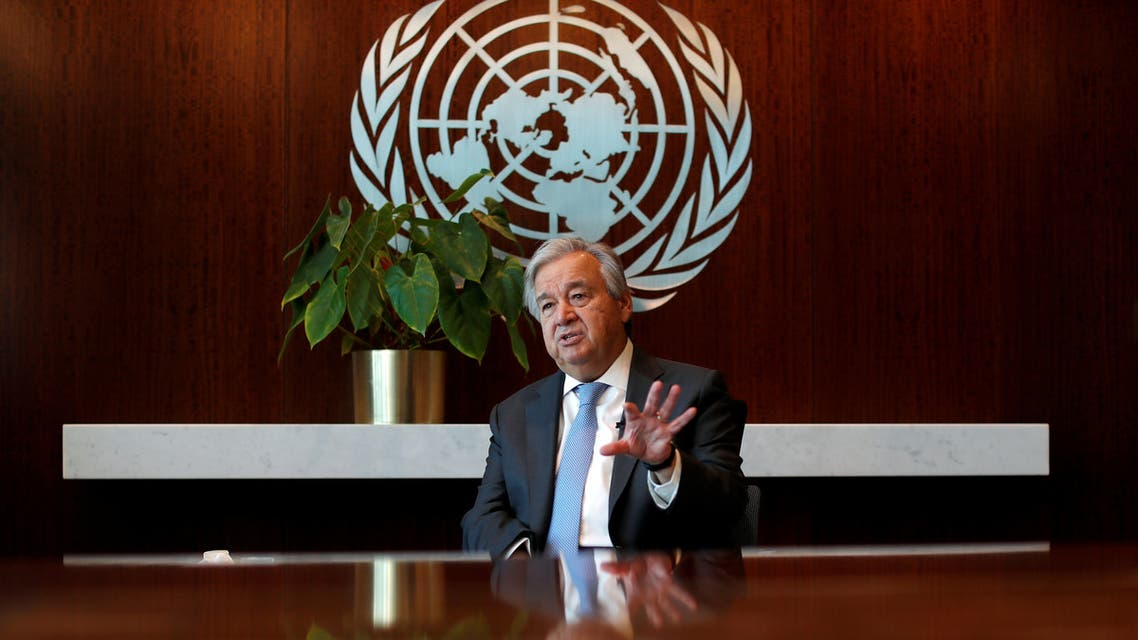 United Nations Secretary-General Antonio Guterres during interview with Reuters at UN headquarters in New York. (Reuters)