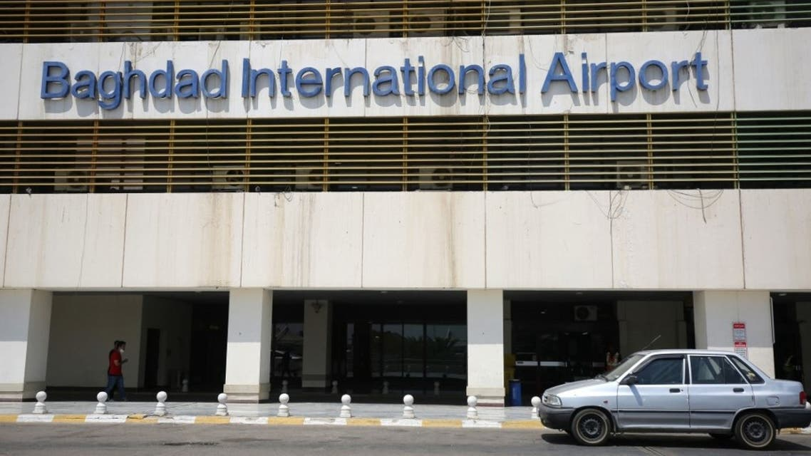 The Baghdad international airport is pictured following its reopening on July 23, 2020. (AFP)