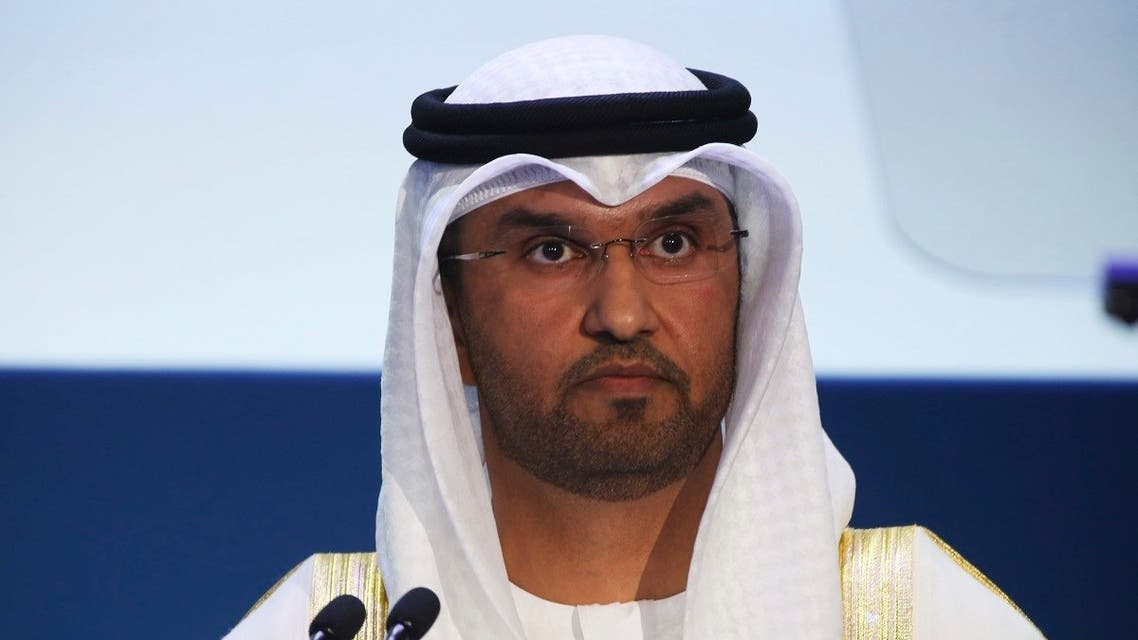 Sultan Ahmed al-Jaber, director of the Abu Dhabi National Oil Co. and Emirati minister of state, speaks at the Abu Dhabi International Petroleum Exhibition & Conference in Abu Dhabi, United Arab Emirates, on Monday, Nov. 7, 2016. (AP)