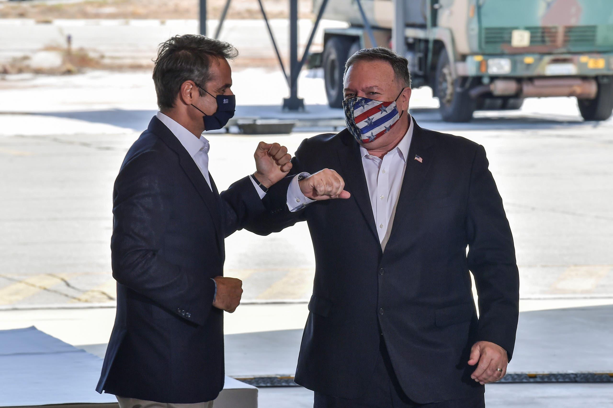 مايك بومبيو ورئيس وزراء اليونان