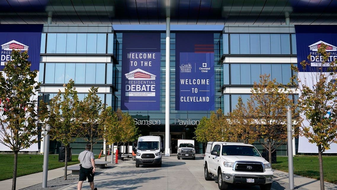 Preparations take place for the first Presidential debate, Sept. 27, 2020, in Ohio. (AP)