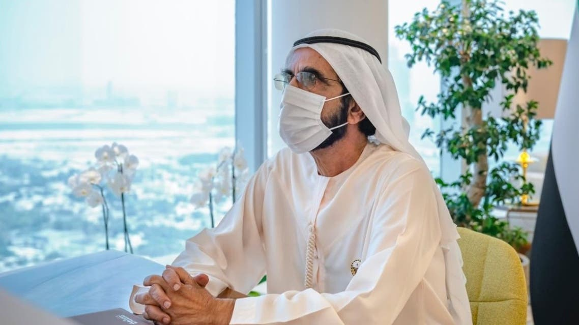 The Dubai ruler announces plans to launch an Emirati space mission to the moon. (Twitter)
