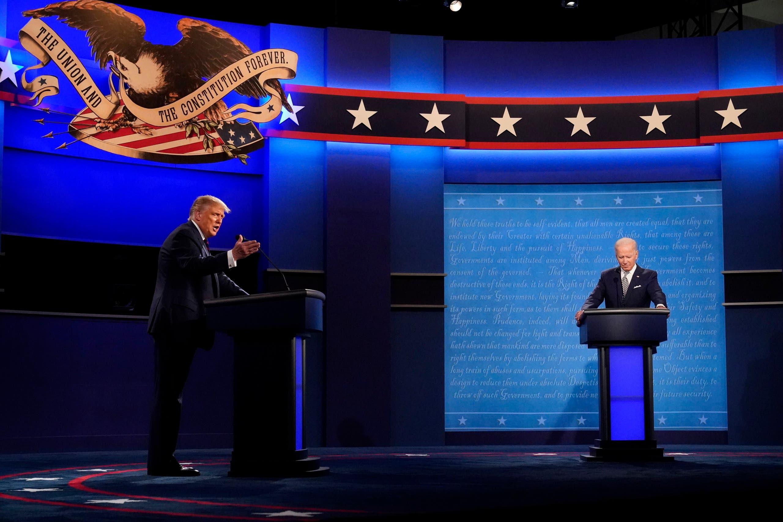 من المناظرة الرئاسية بين ترمب وبايدن