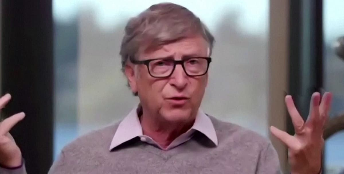 A screengrab of Bill Gates talking about COVID-19 vaccine cooperation and funding. (Reuters)