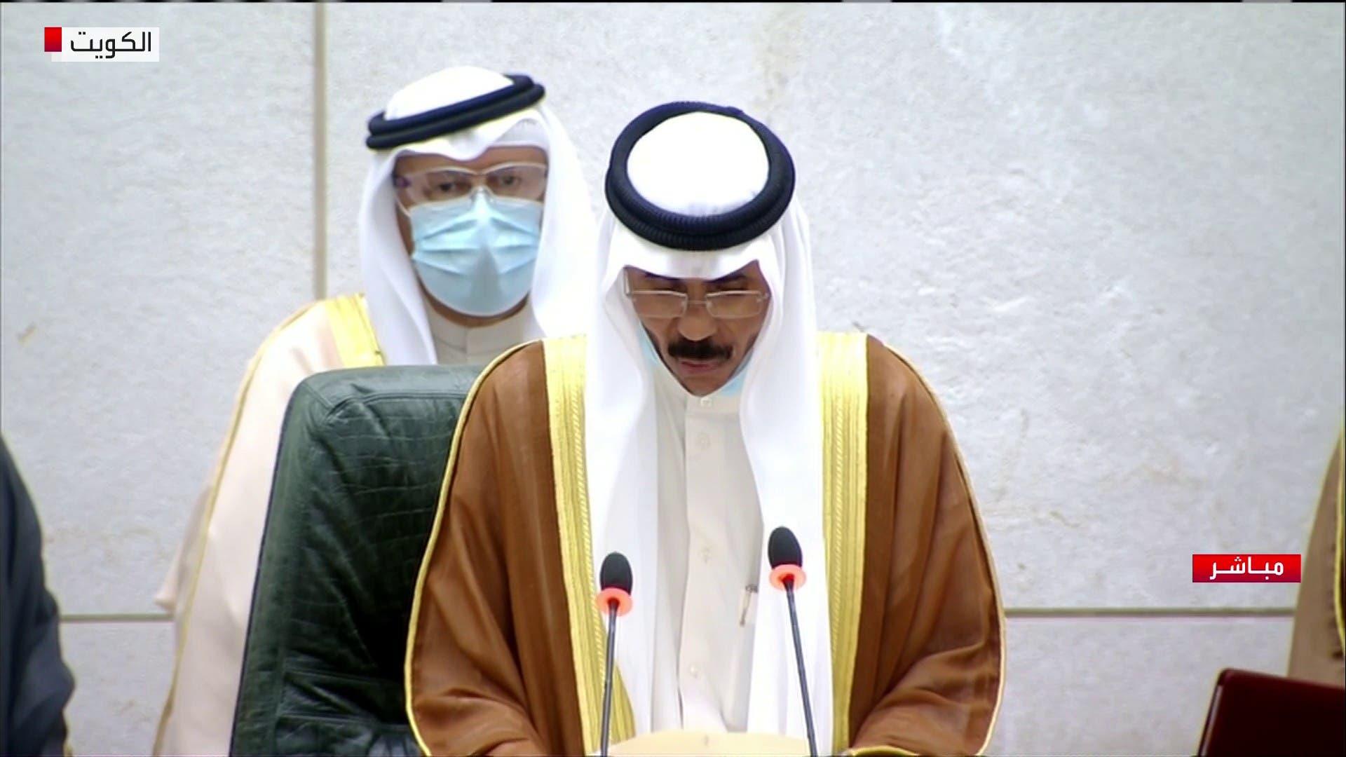 الشيخ نواف يؤدي اليمين الدستورية