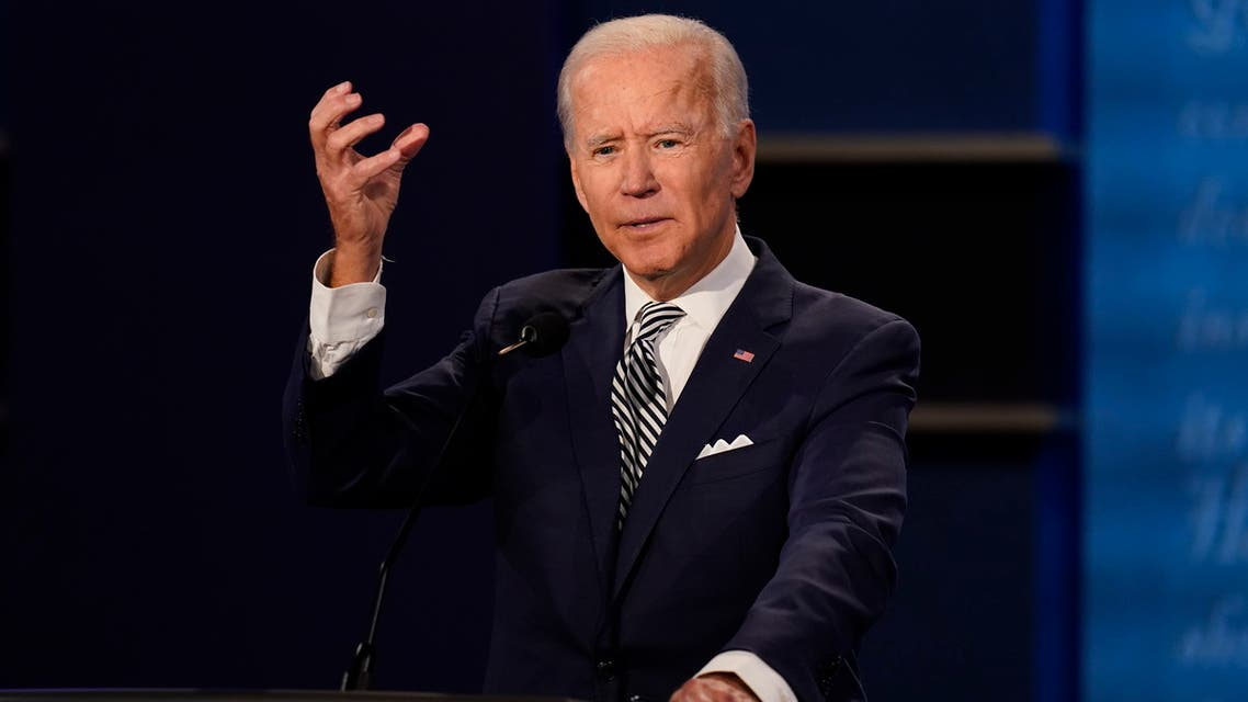 Democratic presidential candidate former Vice President Joe Biden gestures while speaking during the first presidential debate Tuesday, Sept. 29, 2020, at Case Western University and Cleveland Clinic, in Cleveland, Ohio. (AP)