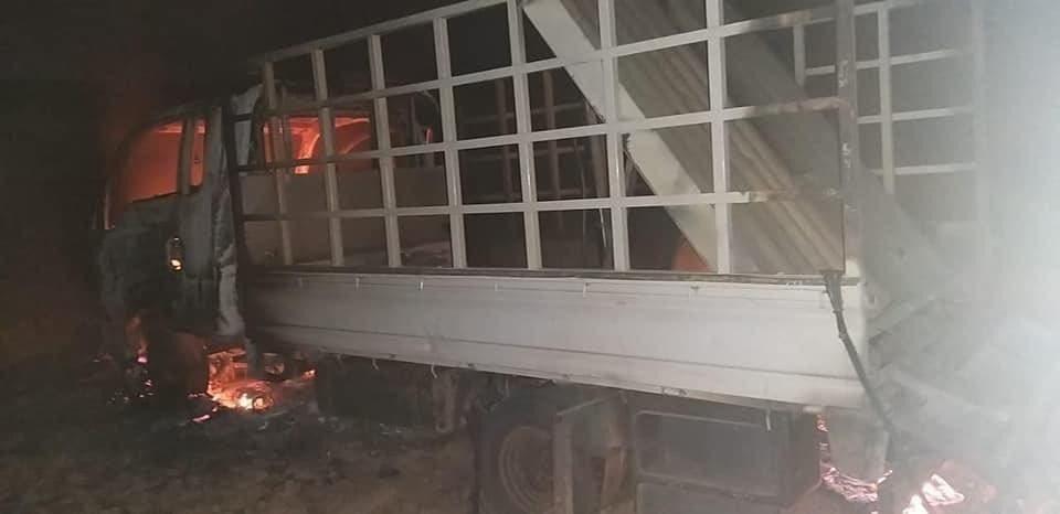 العجلة التي أطلقت الصواريخ على مطار أربيل