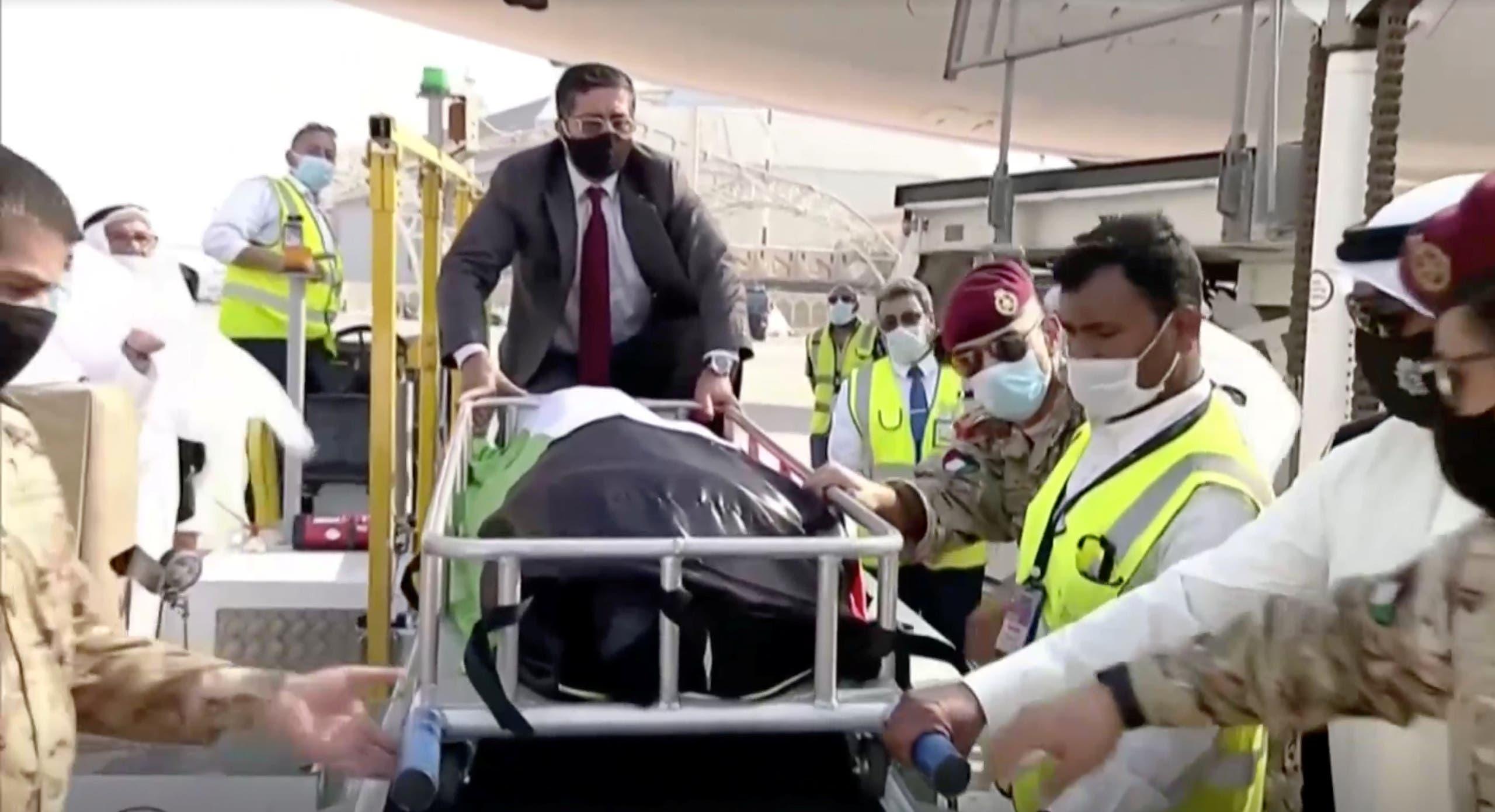 The body of Kuwait's late Emir Sheikh Sabah al-Ahmad al-Sabah. (Reuters)