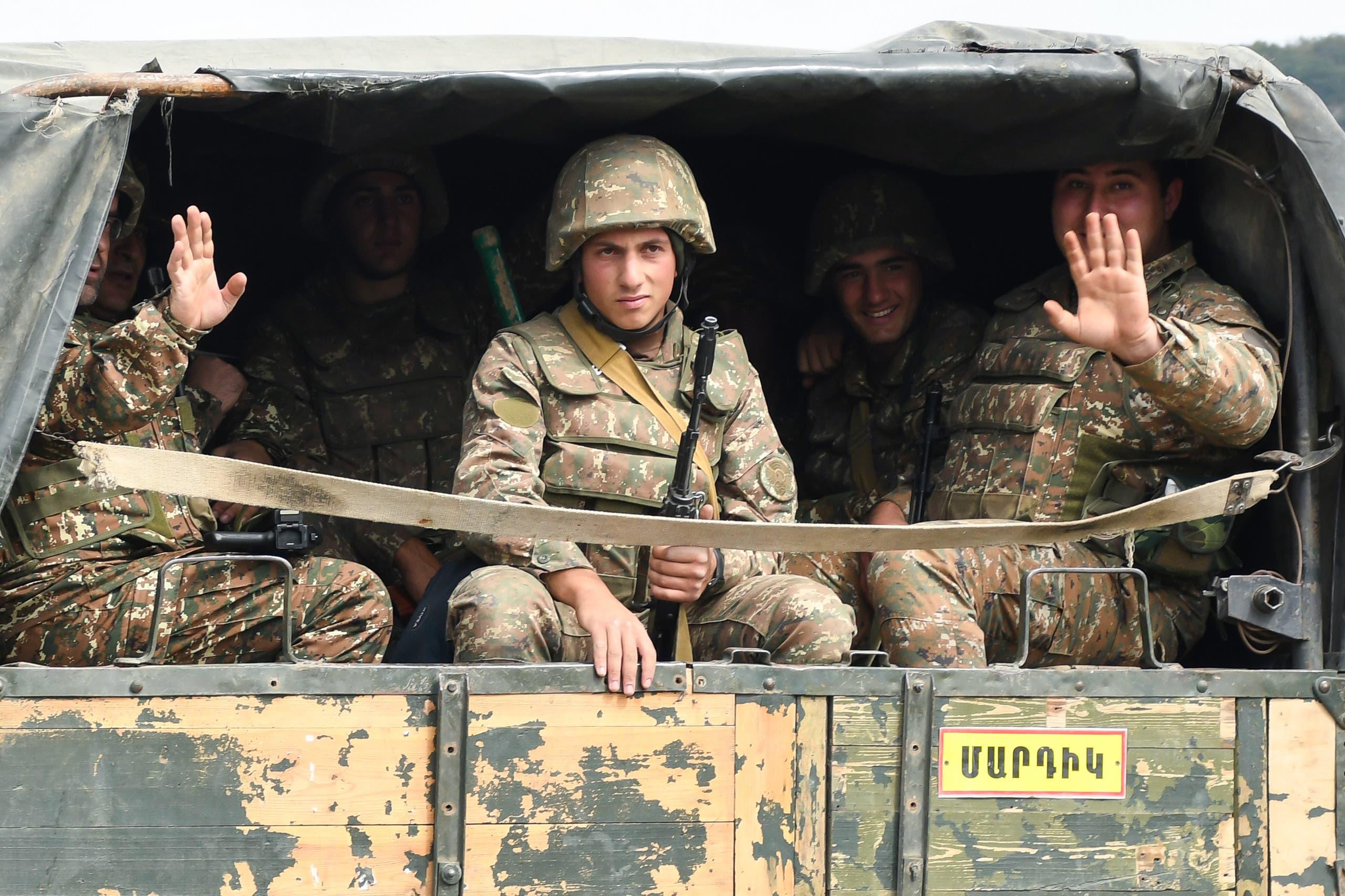 قوات دفاع في ناغورنو كارباخ(أرشيفية- فرانس برس)