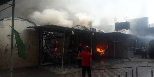 حريق سابق في إيران