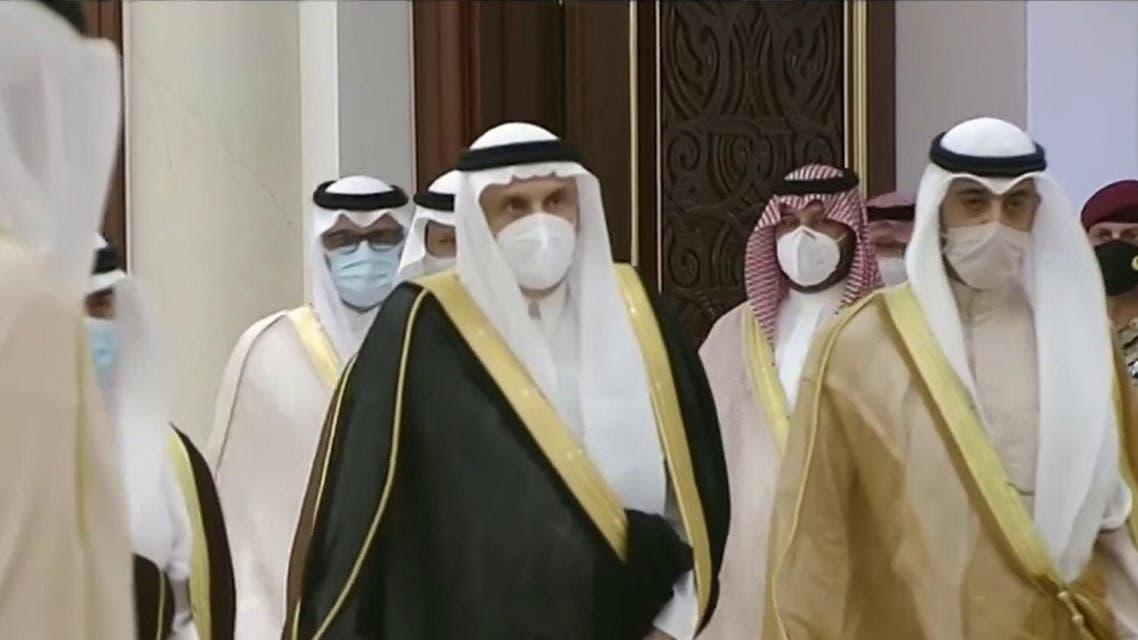 An official Saudi Arabian delegation arrives in Kuwait. (Screengrab)