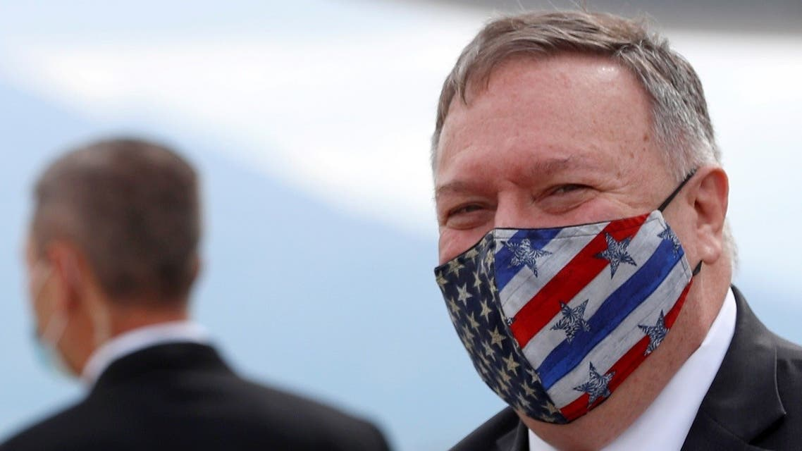 US Secretary of State Mike Pompeo arrives at the airport in Dubrovnik, Croatia, October 2, 2020. (Reuters)
