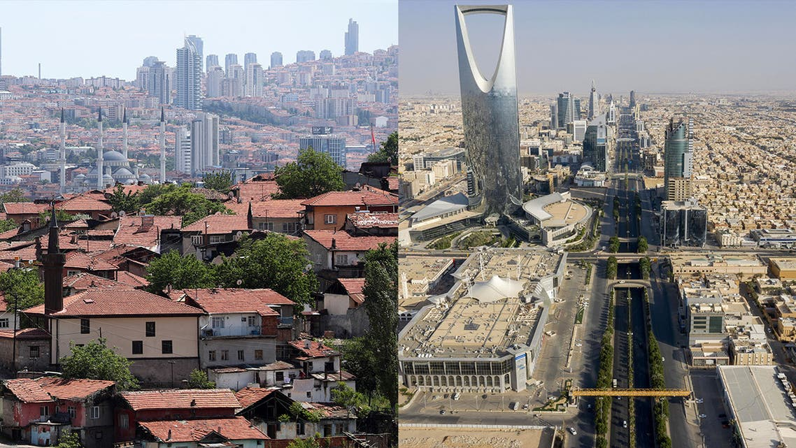 Ankara, Turkey, and Riyadh, Saudi Arabia. (AFP)