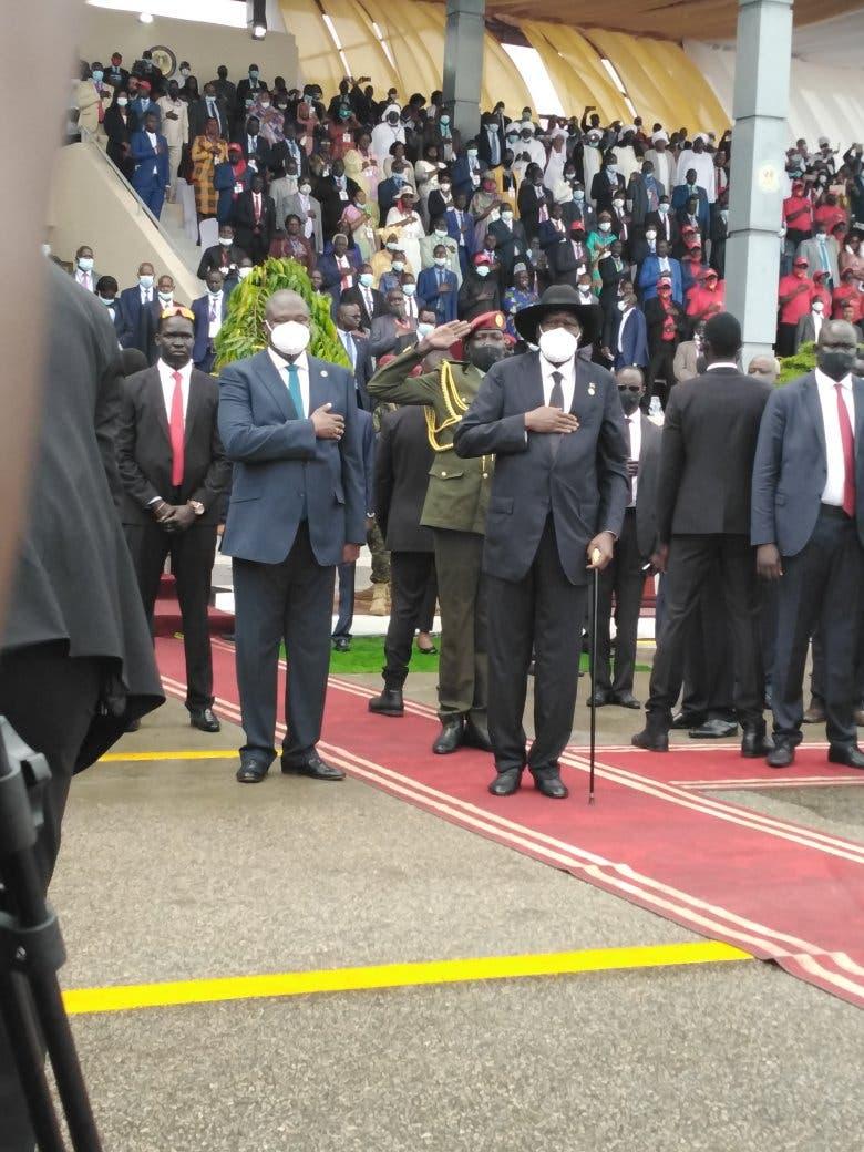من مراسم التوقيع في جوبا