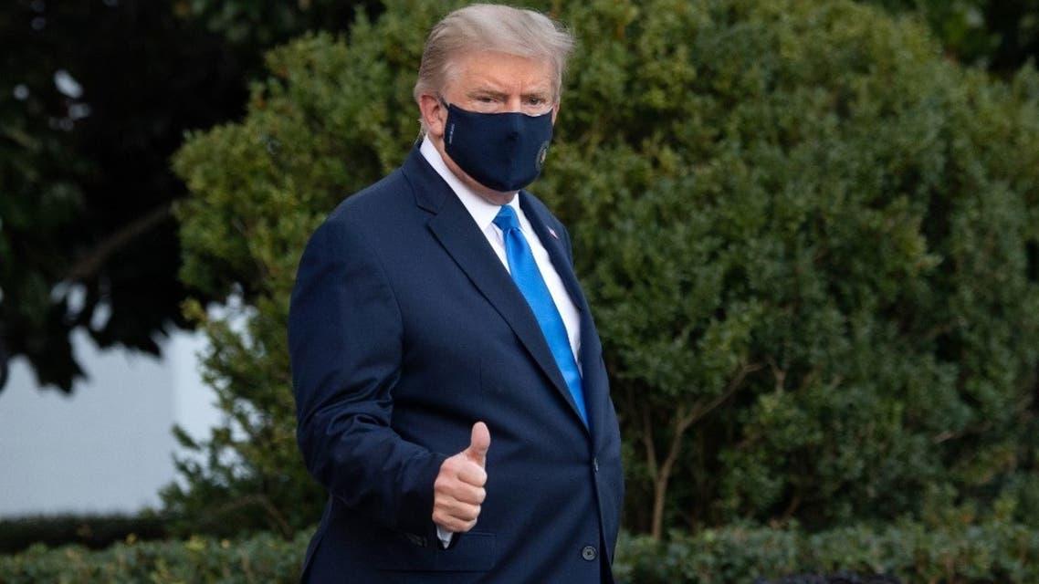 دونالد ترمب يغادر البيت الأبيض في طريقه لمستشفى والتر ريد