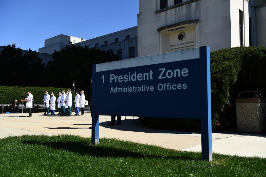 مقر اقامة الرئيس ترمب في المستشفى العسكري