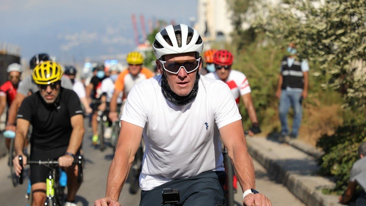 Lance Armstrong races to raise funds following Beirut blast thumbnail