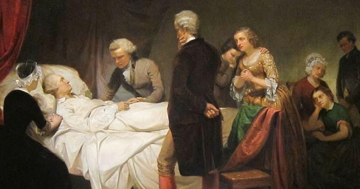 جورج واشنطن على فراش الموت