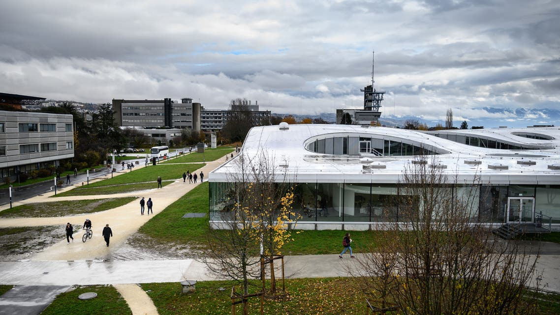This picture taken on November 27, 2019 shows a view of the Swiss Federal Institute of Technology Lausanne (EPFL) campus in Lausanne. (AFP)