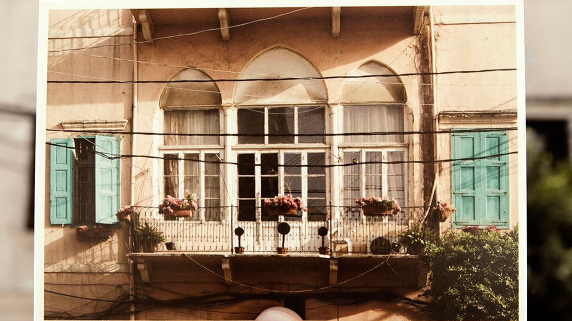 """The """"Bouyout Beirut"""" (Houses of Beirut) postcard series juxtaposes buildings that were damaged in the Beirut port explosion on Aug. 4 with an image taken before the blast that rocked the Lebanese capital. (Supplied)"""