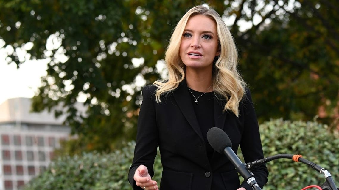 White House Press Secretary Kayleigh McEnany speaks to members of the media at the White House, Oct. 4, 2020. (Reuters)