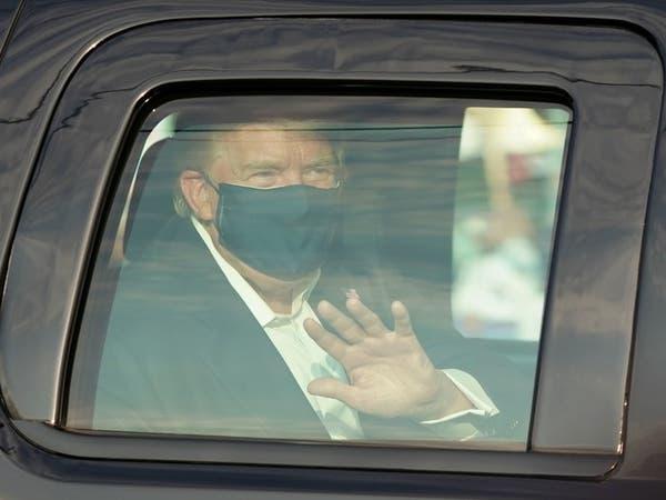 ترمب يخرج من المستشفى لفترة وجيزة لتحية أنصاره