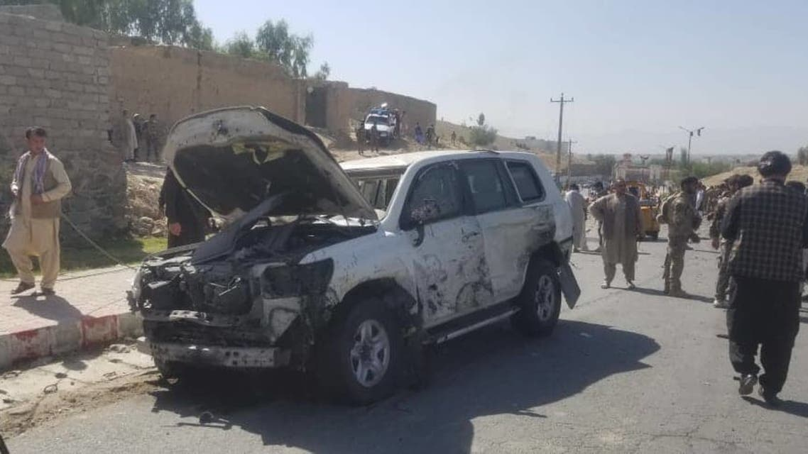 The aftermath of a suicide attack in Laghman province. (Twitter)