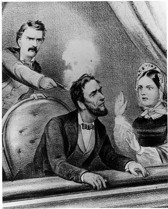 رسم تخيلي لعملية اغتيال لنكولن