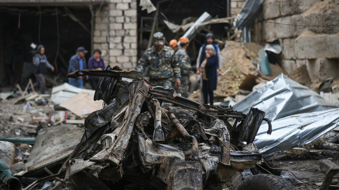 Aftermath of recent shelling during a military conflict over the breakaway region of Nagorno-Karabakh in Stepanakert October 4, 2020. (Reuters)