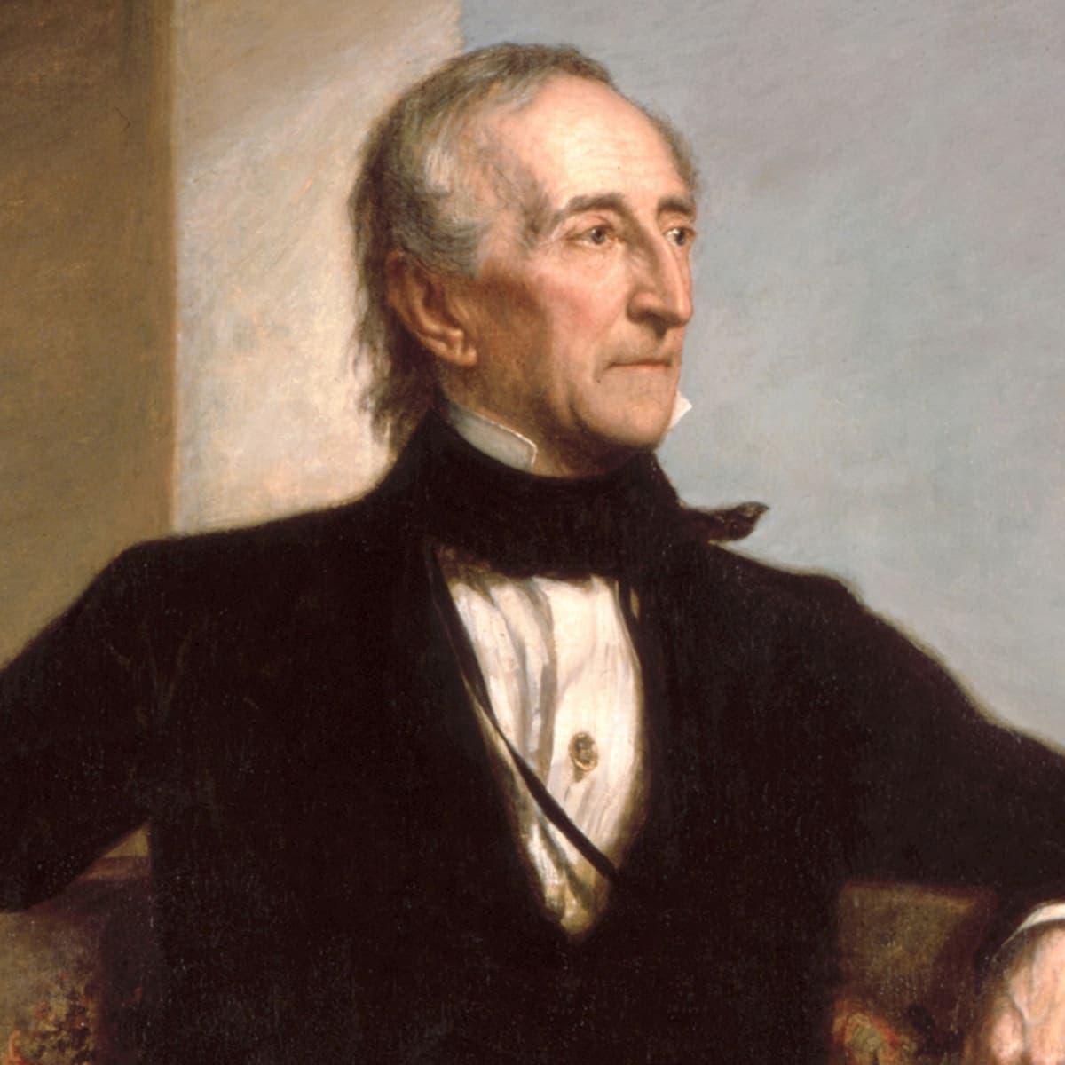 لوحة تجسد الرئيس جون تيلر