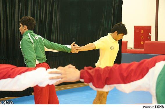 پاشایی در حال تمرین