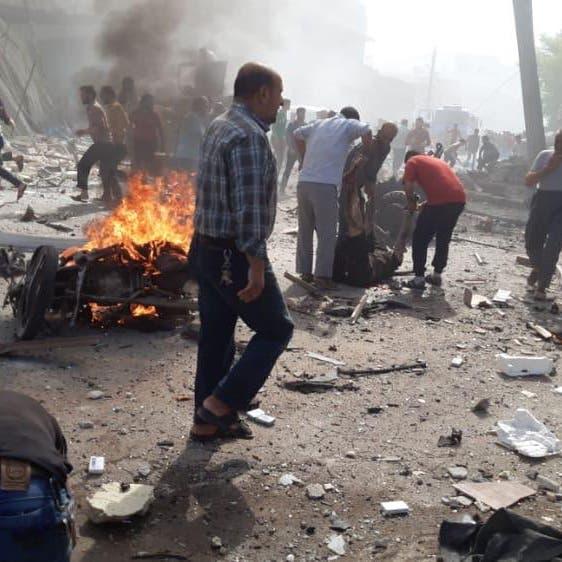 شاهد انفجاراً ضخماً يهز الباب السورية.. مقتل 14 وإصابة 40