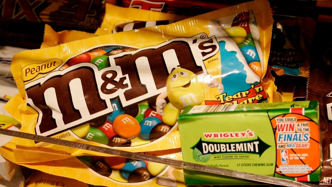 A package of Wrigley's Doublemint gum and M&M's Peanut candies. (Reuters)
