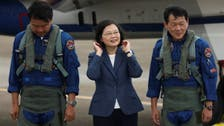 "Taiwan's Tsai says will not ""yield an inch"" as anti-China jet flights double"