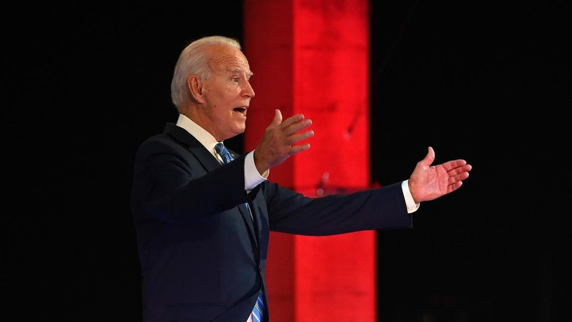 Democratic presidential nominee and former Vice President Joe Biden participates in an NBC Town Hall event at the Perez Art Museum in Miami, Florida. (AFP)