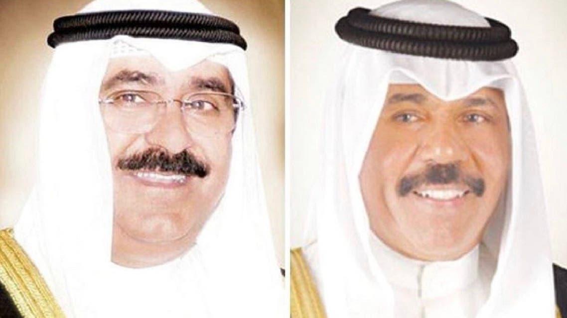 Kuwait's Emir names Sheikh Meshal al-Ahmad al-Jaber al-Sabah (left) as crown prince. (Twitter)