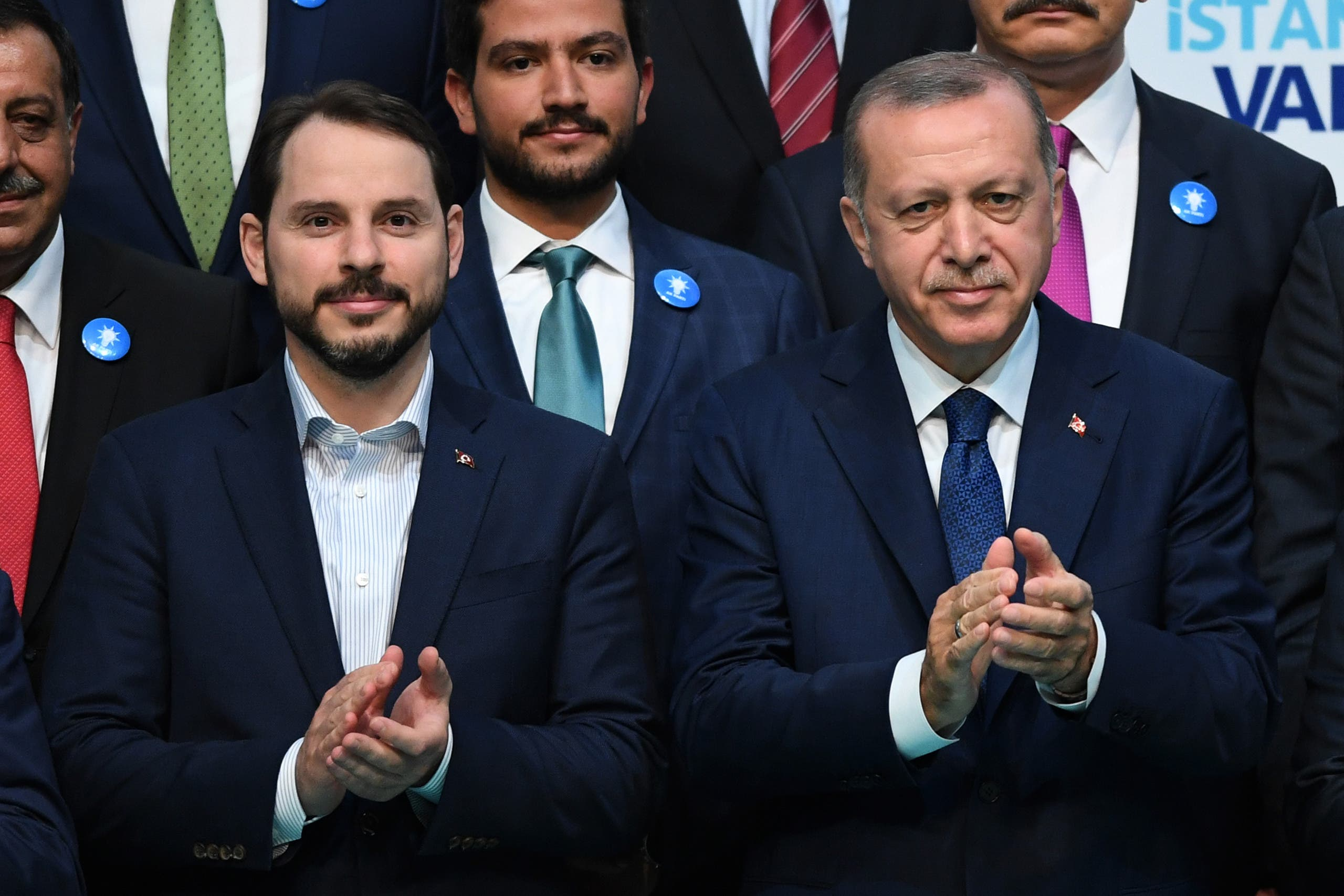 بيرات ألبيرق مع أردوغان(أرشيفية- فرانس برس)